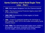 santa catalina island bald eagle time line part i