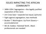issues impacting the african community