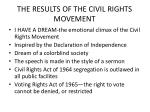 the results of the civil rights movement
