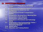 ix indication program