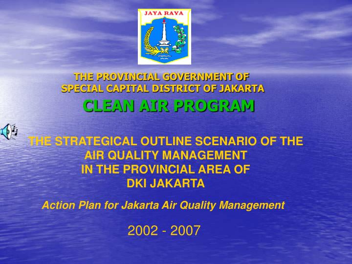 the provincial government of special capital district of jakarta n.