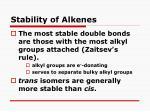 stability of alkenes1