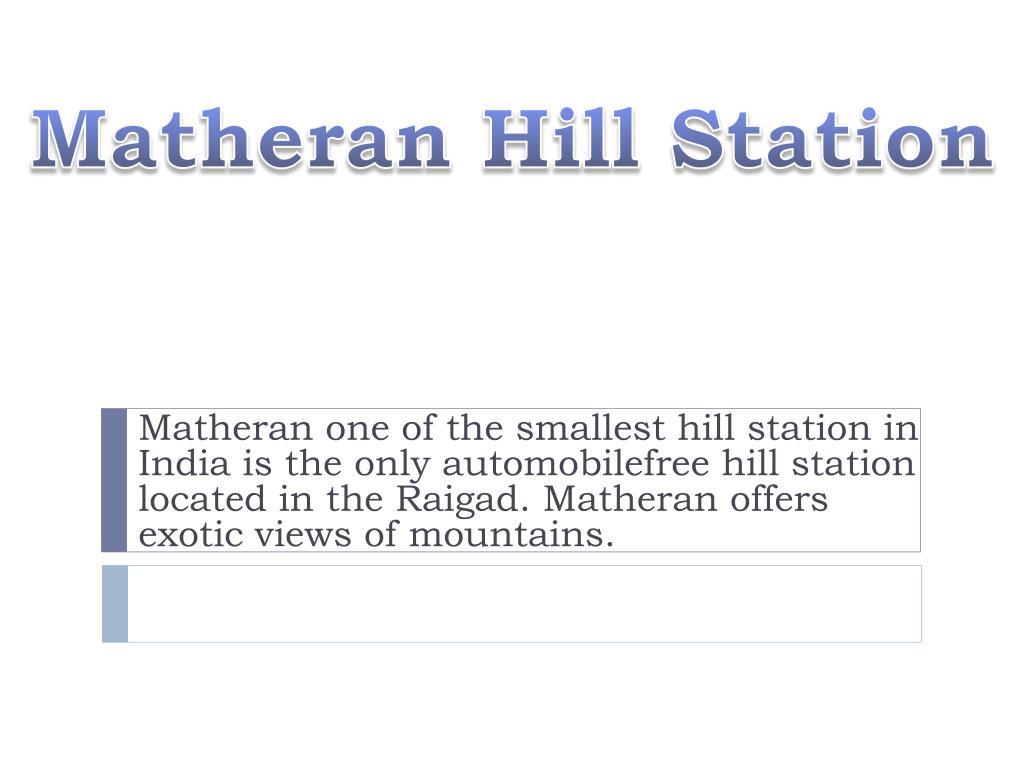 PPT - Matheran Hill Station PowerPoint Presentation - ID:6708208