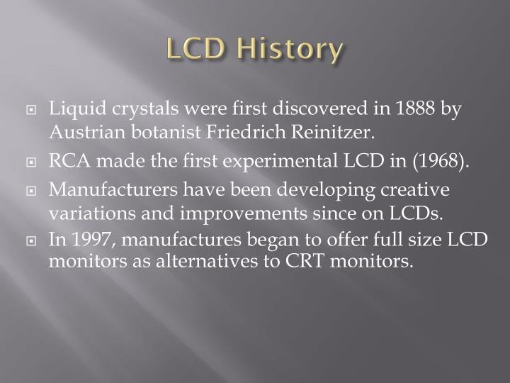 LCD History