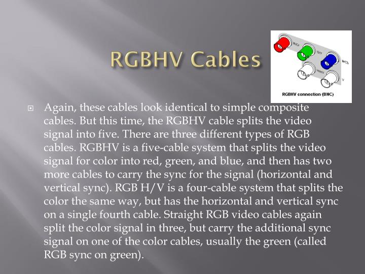 RGBHV Cables