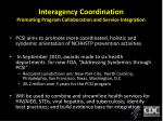 interagency coordination promoting program collaboration and service integration