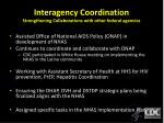 interagency coordination strengthening collaborations with other federal agencies