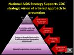 national aids strategy supports cdc strategic vision of a tiered approach to prevention