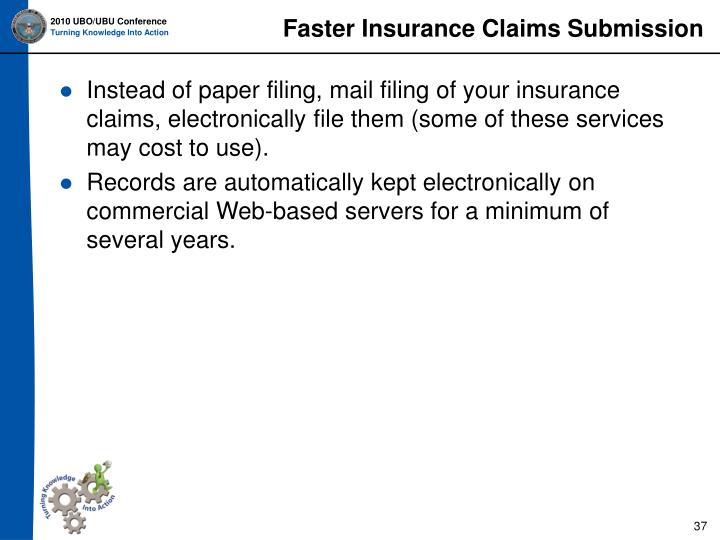 Faster Insurance Claims Submission