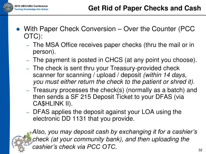 Get Rid of Paper Checks and Cash