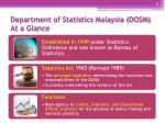 department of statistics malaysia dosm at a glance