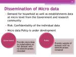 dissemination of micro data
