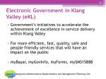 electronic government in klang valley ekl
