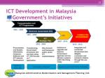 ict development in malaysia government s initiatives