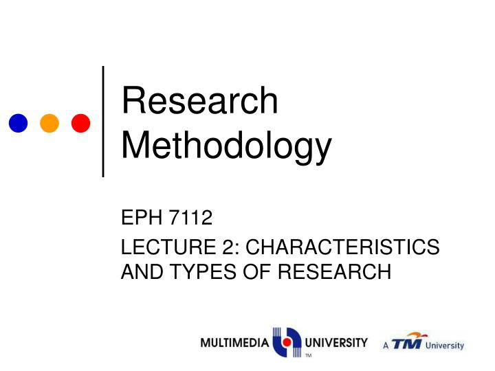research methodology n.