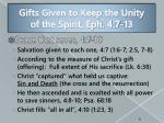 gifts given to keep the unity of the spirit eph 4 7 13
