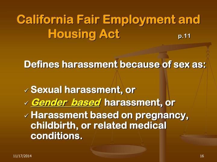 California Fair Employment and Housing Act