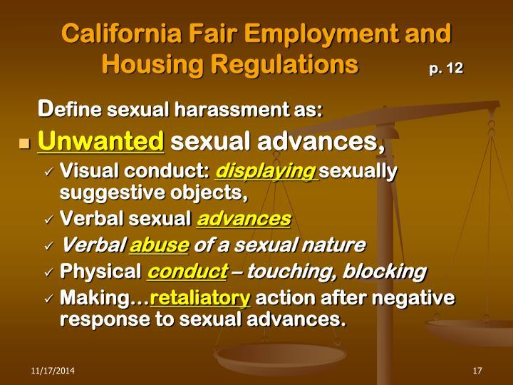 California Fair Employment and   Housing