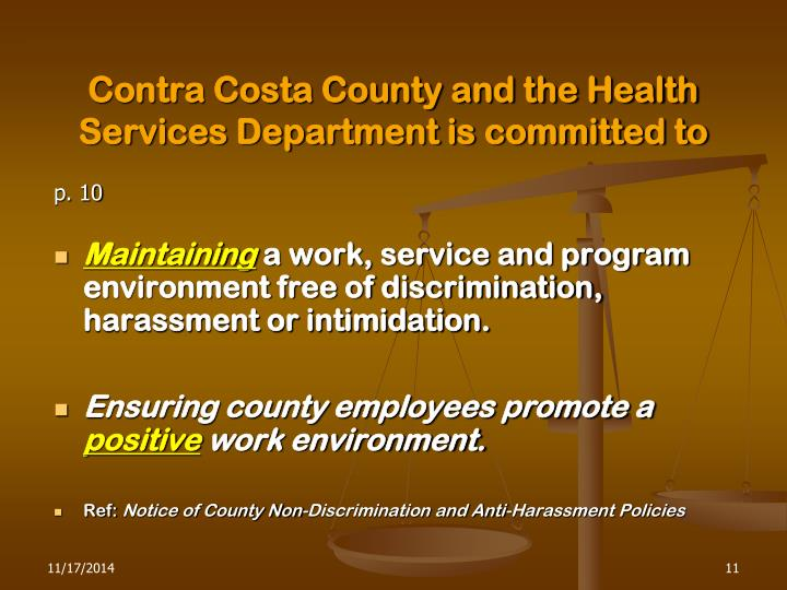 Contra Costa County and the Health Services Department is committed to