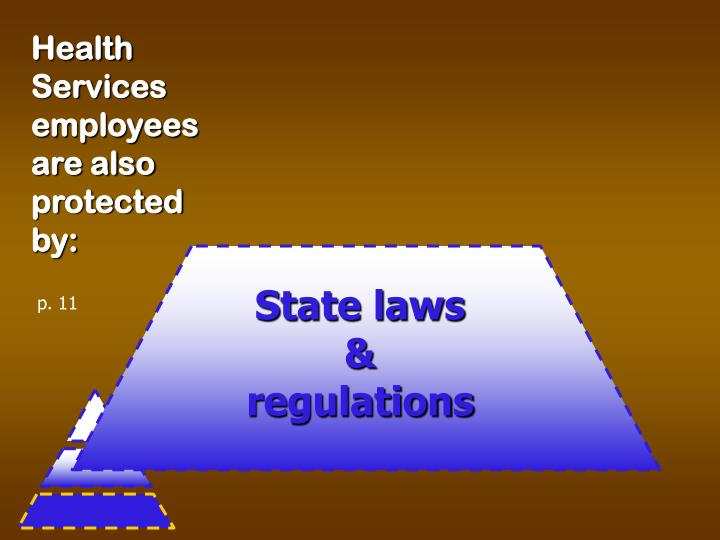 Health Services employees are also protected by: