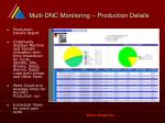 multi dnc monitoring production details