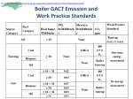 boiler gact emission and work practice standards