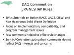 daq comment on epa neshap rules