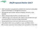 re proposed boiler gact