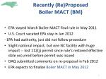 recently re proposed boiler mact bm