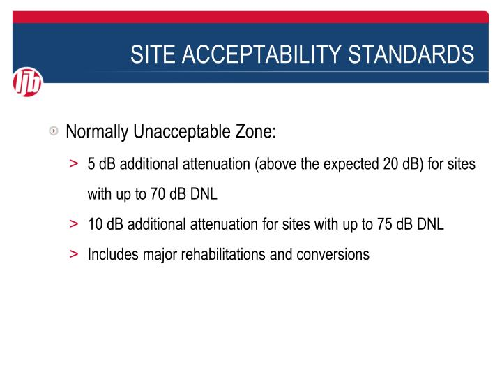 Site acceptability standards1
