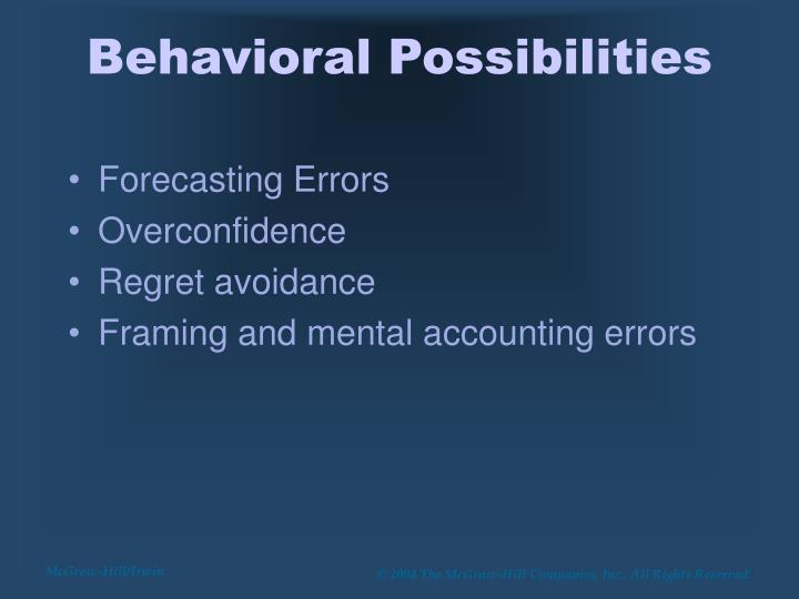 Behavioral Possibilities