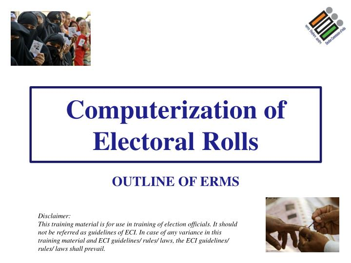 computerization of electoral rolls n.