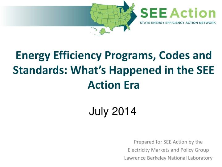 energy efficiency programs codes and standards what s happened in the see action era n.