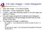 2 d color images color histograms