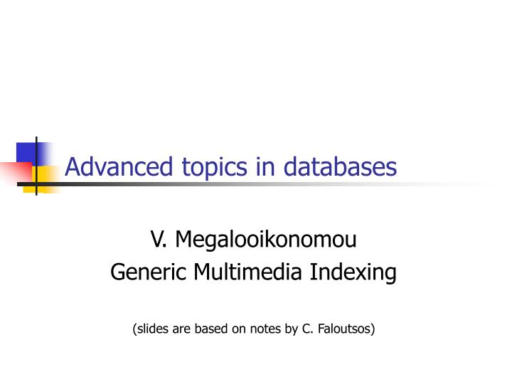 advanced topics in databases n.
