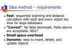 idea method requirements