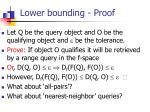 lower bounding proof