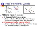 types of similarity queries5