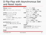 d flip flop with asynchronous set and reset inputs