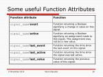 some useful function attributes