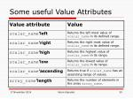some useful value attributes