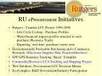 ru eprocurement initiatives