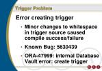 trigger problem