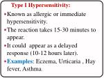 type i hypersensitivity