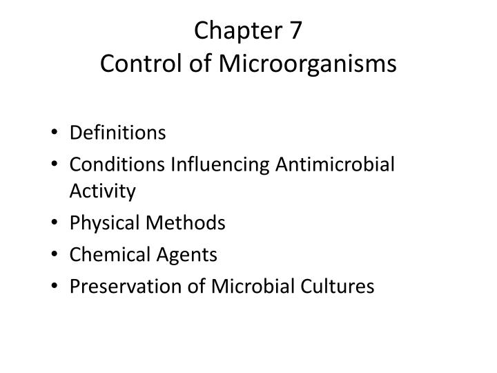 chapter 7 control of microorganisms n.