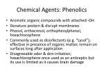 chemical agents phenolics