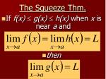 the squeeze thm