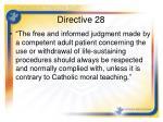 directive 28
