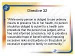 directive 32