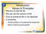 introduction values principles